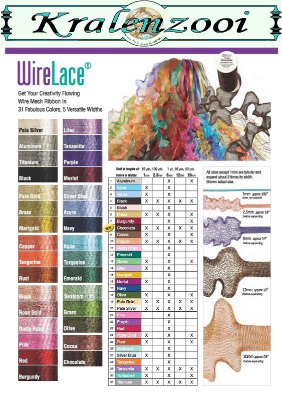Kleurenkaart wire lace